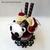 Cherry Crepe Felt Panda Parfait, Unique Gift, Unique Dessert, Cute Panda Plushie
