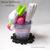 Taro Ice Cream Fruit Cat Parfait. Kawaii Cat Plush, Cat Gift, White Cat Chibi