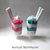 Felt Dessert Decoration, Vanilla Candy Sundae Cups,Cute Gift, Cute Dessert