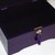 LOCKABLE HANDMADE PURPLE Wooden jewellery Storage BOX with LOCK and KEY.