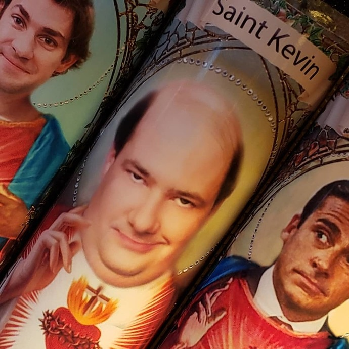 JIM from The Office  -  Celebrity Saint Prayer Candle
