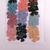 Colorful Sparkle Fabric Die Cut 5 Petal Flowers