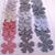 Striped Fabric Die Cut Flowers 5 Petal