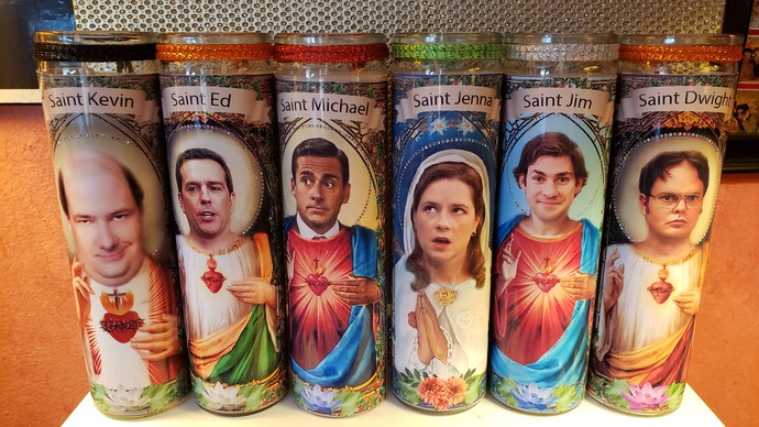 ED From The Office  -  Celebrity Saint Prayer Candle