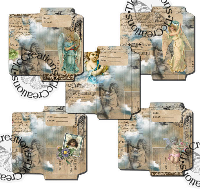 Angels Around Us Printable Vintage Envelopse Junk Journal Scrapbook