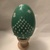 Painted Wooden Egg 0054 Green Holiday
