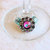 Wineglass or Stemware Charms, All Occasion, with Buttons and Beads in White,