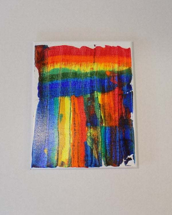 Abstract acrylic painting on canvas, one of a kind original wall art titled