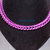 Handmade chainmaille necklace, pink and purple box chain, nickel free anodized