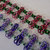 Handmade rosettes bracelet, double strand chainmaille cuff bracelet of European