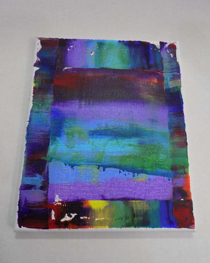 Small abstract wall art, original acrylic on canvas painting, one of a kind