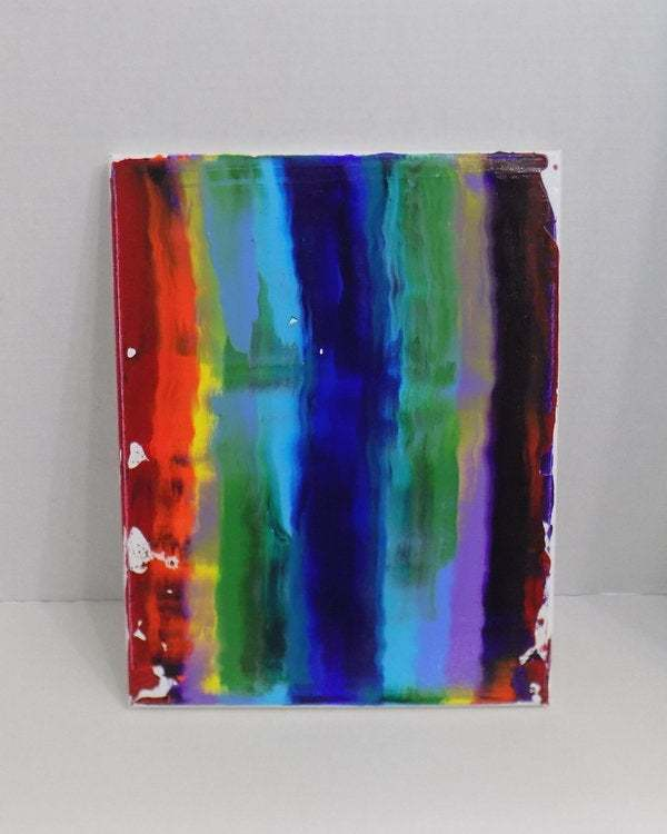 Abstract rainbow painting,  one of a kind original artwork, acrylic on canvas
