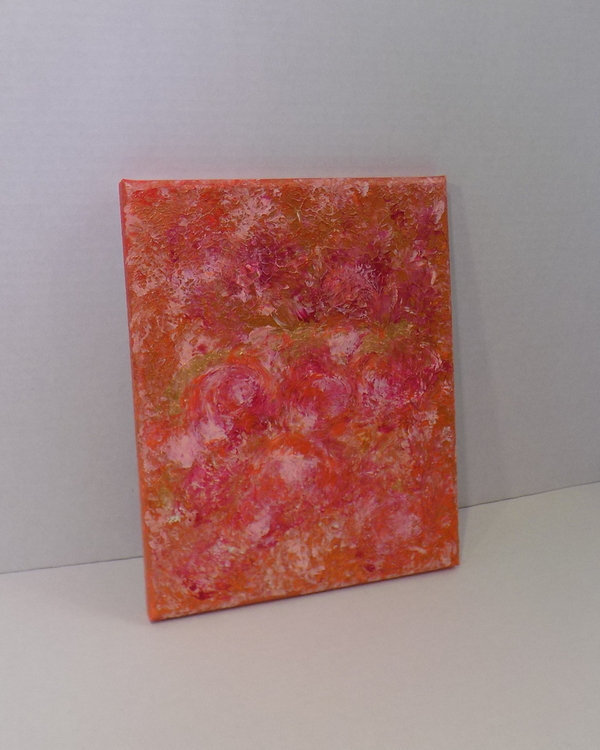 Original painting modern abstract small wall art, acrylic on canvas, one of a