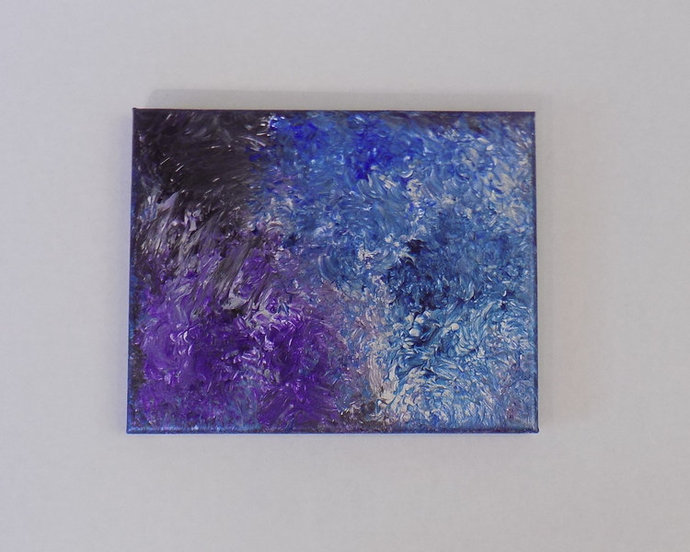 Original abstract small acrylic on canvas painting, modern one of a kind artwork