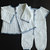 Baby Boy Coming Home/Christening Outfit Crochet Pattern with Rompers, Hat, and