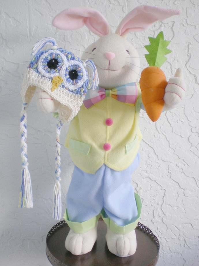 hand crochet Baby Owl Hat, Photo Prop bird hat baby accessory animal hat baby