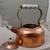 Vintage Copper Teapot with Porcelain handle