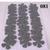 Dark Gray Crosshatch Pattern Vinyl Die Cut Flowers