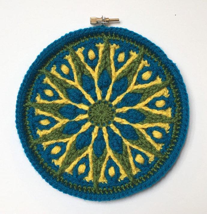 Small crochet mandala wall hanging