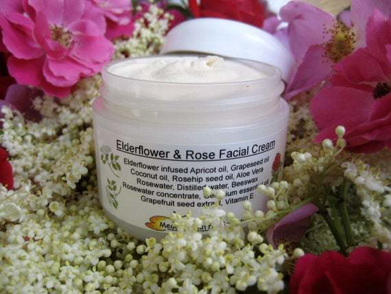 Rose & Elderflower Facial Moisturizing Cream, Holistic Natural Beauty