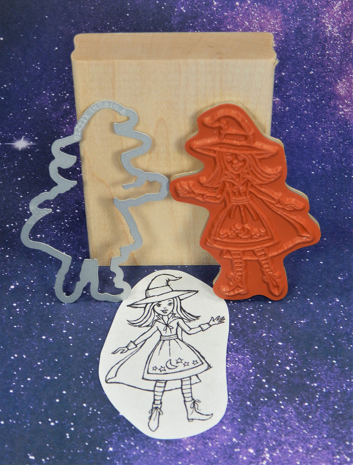 HALLOWEEN WITCH Rubber Stamp & Framelit Die, Stampin' Up!