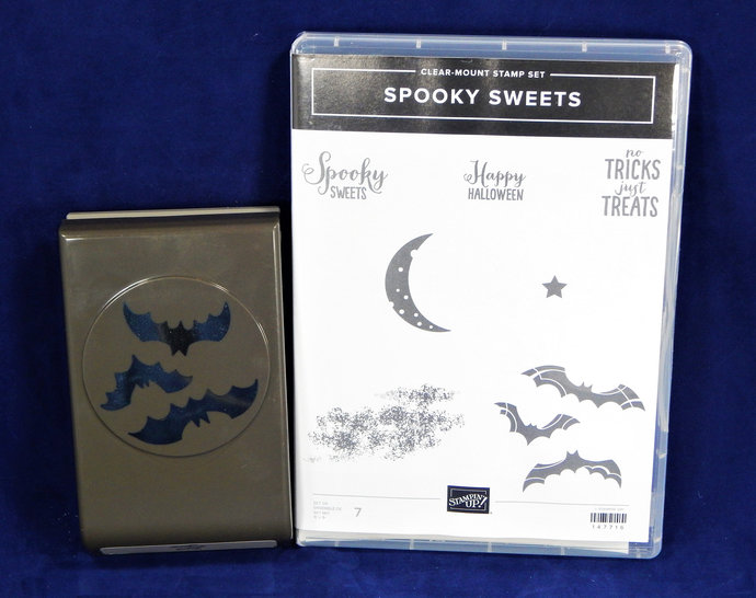 SPOOKY BATS Punch & Spooky SWEETS Rubber Stamp Set, by Stampin' Up!