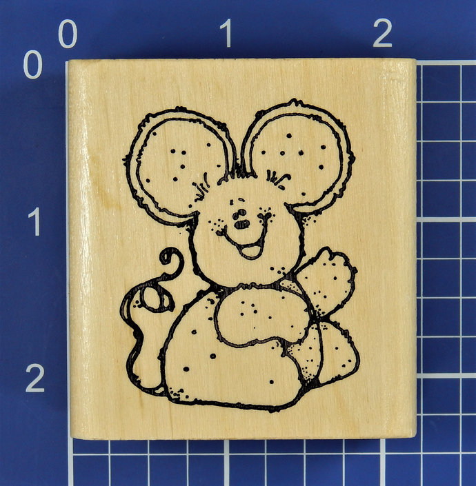 BRENDA MOUSE, Rubber Stamp by Hook's Lines & Inkers