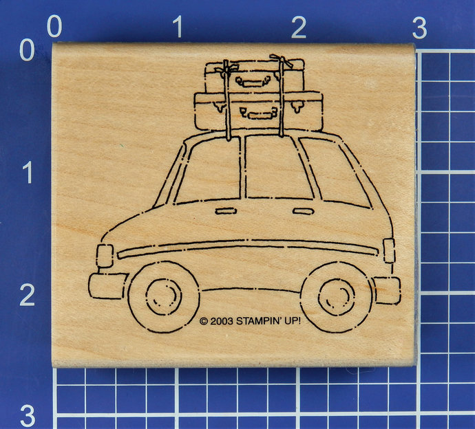 CAR with LUGGAGE, Rubber Stamp by Stampin' Up!