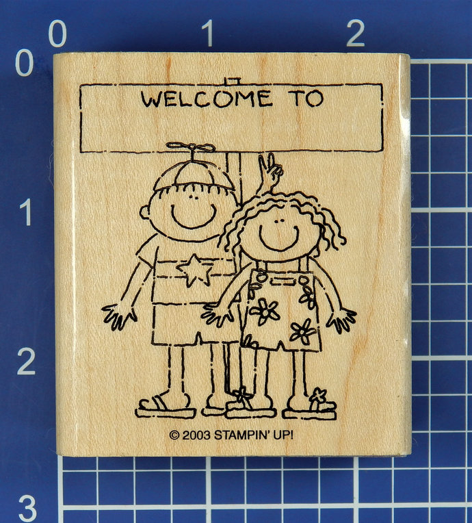 WELCOME TO with KIDS, Rubber Stamp by Stampin' Up!