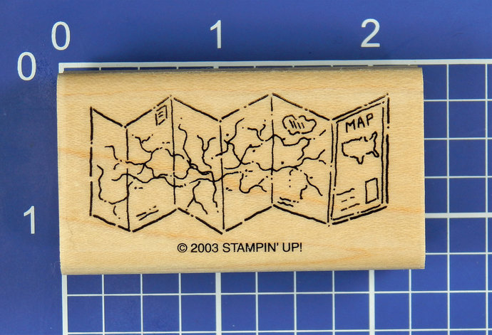 ROAD MAP, Wood Mounted Rubber Stamp by Stampin' Up!