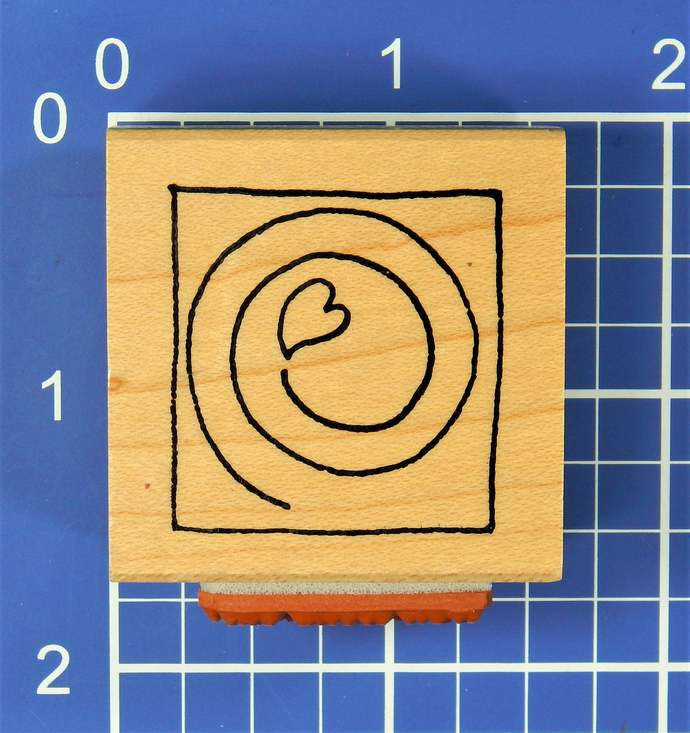 You Make My Heart Whirl, Rubber Stamp by Claudia Rose