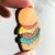 Cute Hamburger Exaggerated Acrylic Drop Earrings Unique Funky Kawaii Japanese