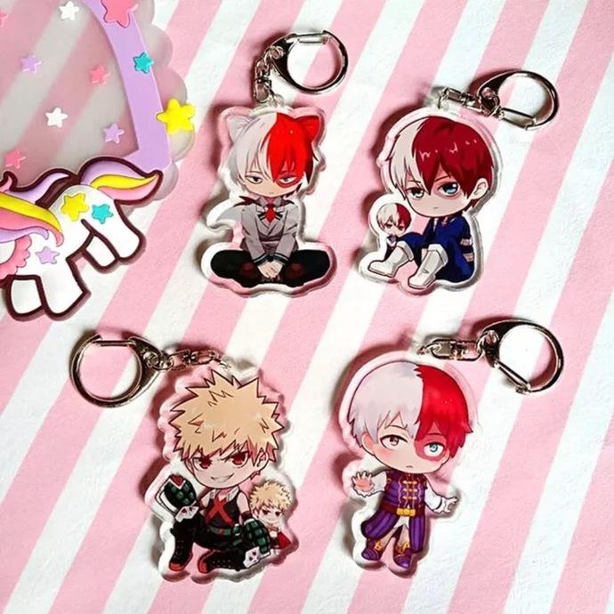 My Hero Academia Acrylic Keychain Keyring Pendant Accessories Boku No Hero Anime