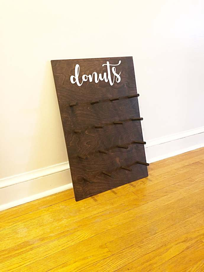 Donut Stand For Wedding, Wedding Donut Wall, Rustic Donut Holder, Donut Display,