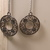 Silver Filigree Dangle Earrings/ Silver Earrings/ Metal Earrings/ Silver