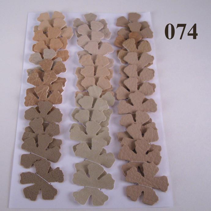 Shades of Tan Vinyl Die Cut Flowers