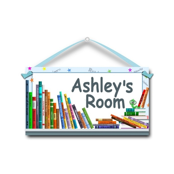 Books - Personalised Kids Door Sign