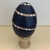 Painted Wooden Egg 0051 Navy Swirl