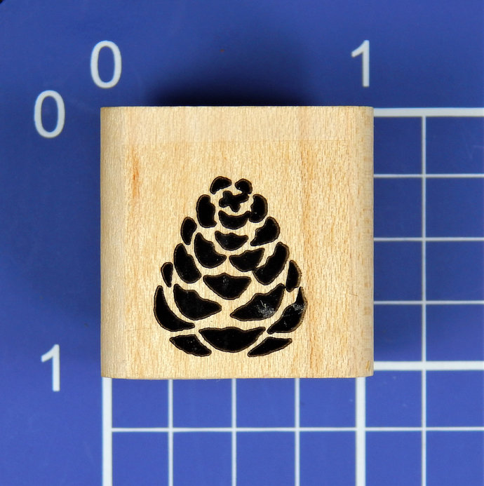 PINE CONE, Wood Mounted Rubber Stamp, by Stampin' Up!