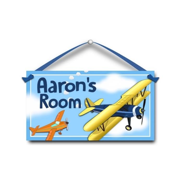 Airplanes - Personalised Kids Door Sign