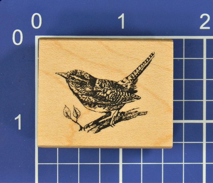 BIRD on BRANCH, Rubber STAMP by Inkadinkado