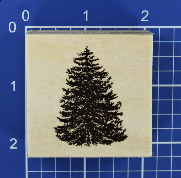 PINE TREE, Wood Mounted Rubber Stamp, Craft Smart