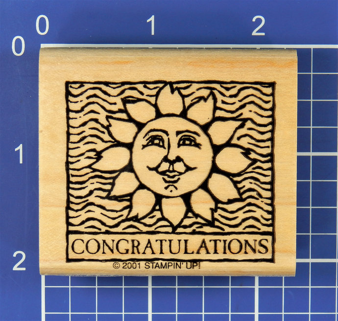 CONGRATULATIONS with SUN, Rubber Stamp by Stampin' Up!