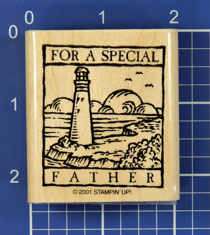 FOR a SPECIAL FATHER, Rubber Stamp by Stampin' Up!