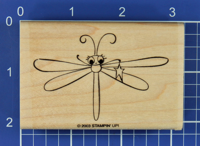 DRAGONFLY with STAR, Rubber Stamp by Stampin' Up!