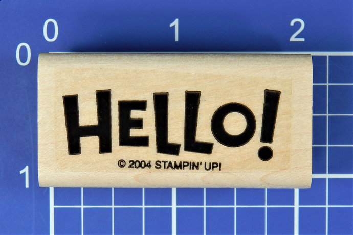 HELLO!, Rubber Stamp by Stampin' Up!