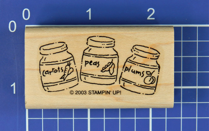 JARS of BABY FOOD, Rubber Stamp by Stampin' Up!
