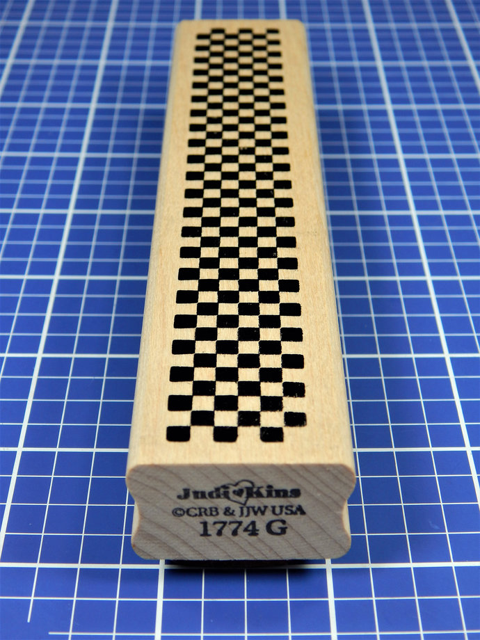 CHECKERBOARD, Border Rubber Stamp by JudiKins