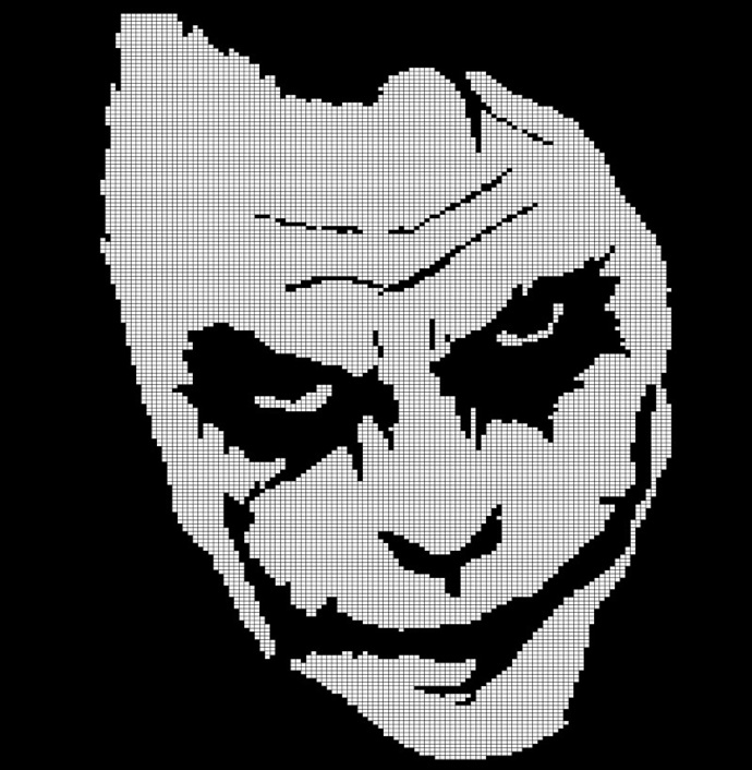 JOKER FACE CROCHET AFGHAN PATTERN GRAPH