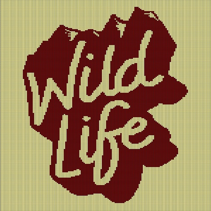 WILD LIFE CROCHET AFGHAN PATTERN GRAPH